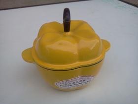 garnek żeliwny mini papryka