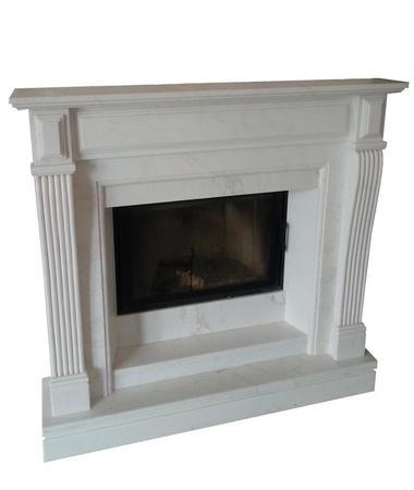 portal biały marmur miro-les foyers