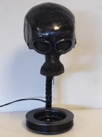 LAMPA- CZASZKA- Hande Made