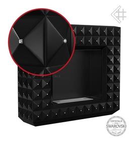 Biokominek EGZUL z kryształami Swarovski czarny mat