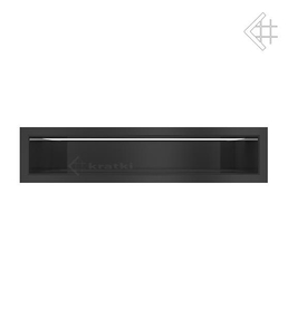 Kratka wentylacyjna luft 90x400 mm - kolor  czarny MIRO LES FOYERS, KOMINKI KRAKÓW, KRATKI KOMINKOWE KRAKÓW