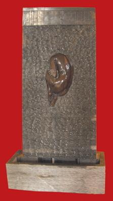 Fontanna 04  Czarny marmur  Wymiary: 88x160x60cm, miro les foyers ogród, fontanny karaków, kamień miro les foyers