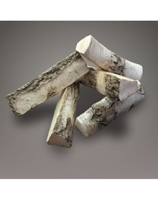 Drewno polana ceramiczne do biokominka BRZOZA 5szt